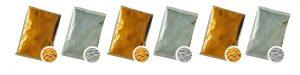 Gold Silber Holi pulver